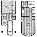東成区 一戸建て 1階と2階部分 間取図