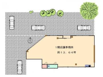 岡本ビル1階13.64坪